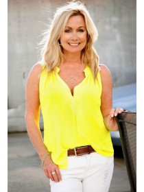 Short Sleeve Yellow Top.