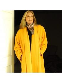 Lemon cashmere coat
