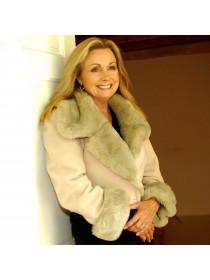 Byblos Italian made jacket with fur trim
