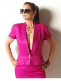 Gianni Versace Fuchsia skirt and Jacket