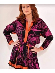 Gianni Versace vintage silk blouse and skirt