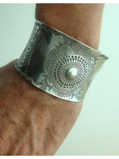 Hand crafted silver cuff